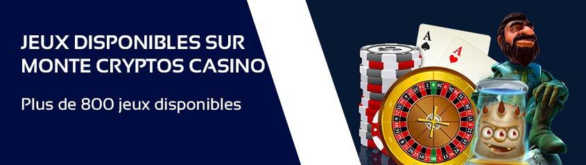 jeux de casino disponibles